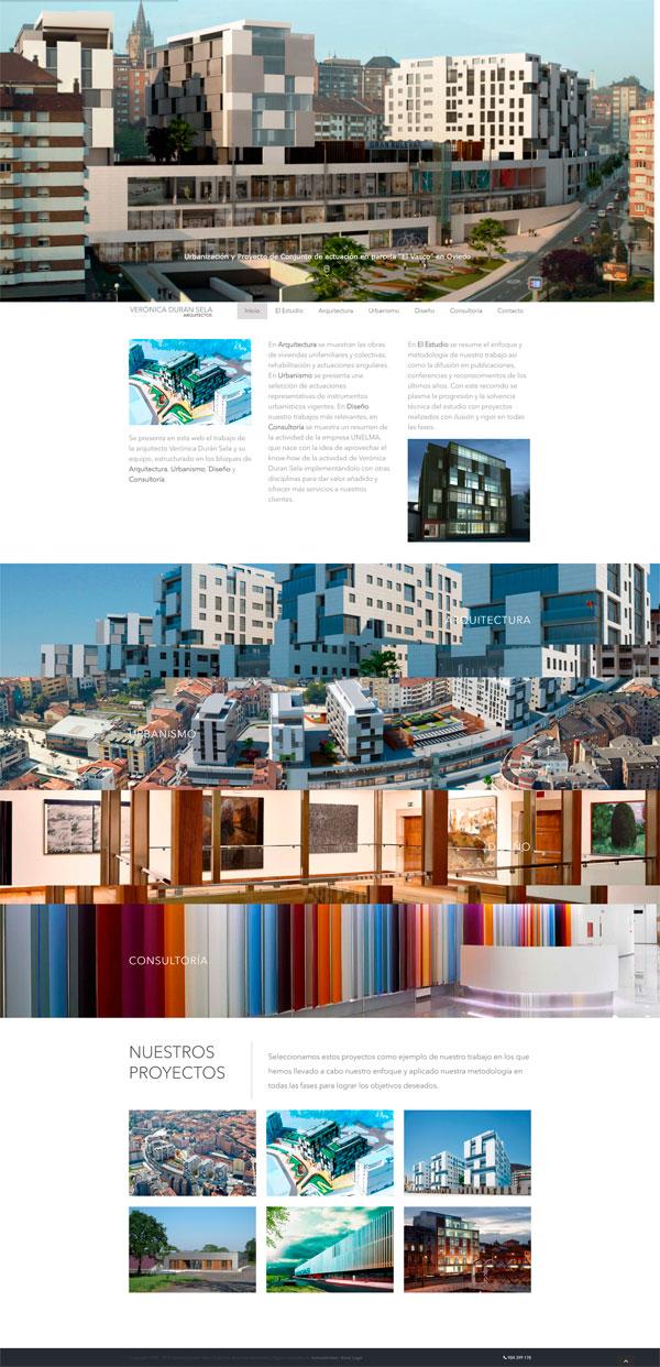 Diseño web estudio de arquitectura