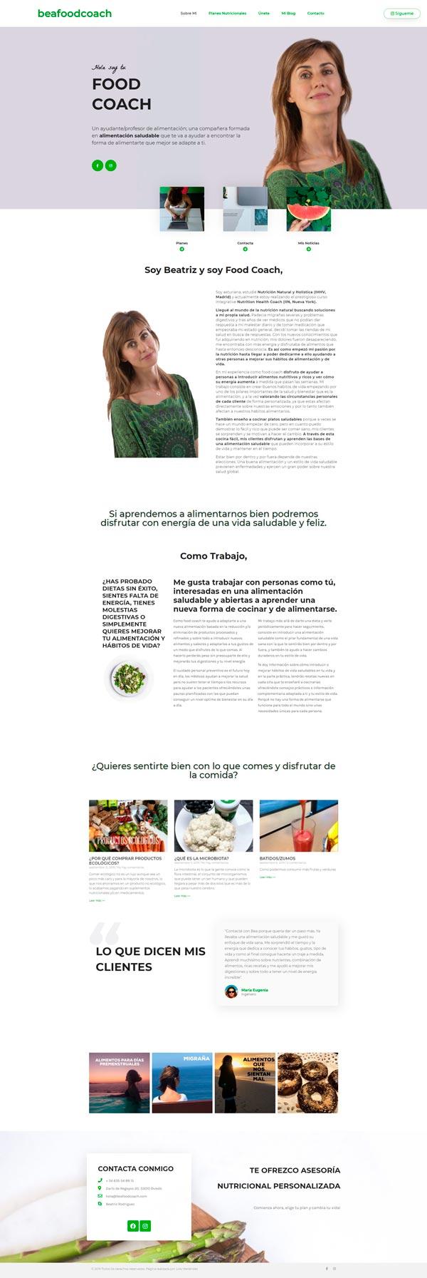 web-para-asesoría-en-nutricion-Beafoodcoach
